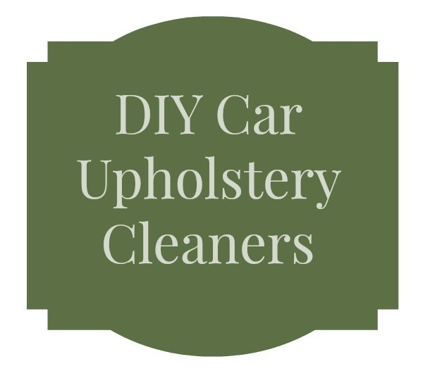 DIY Car Upholstery Cleaners