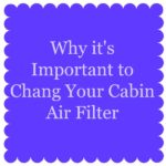 Why it's Important to Chang Your Cabin Air Filter