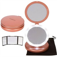 iLuminate LED Folding Vanity Makeup Mirror
