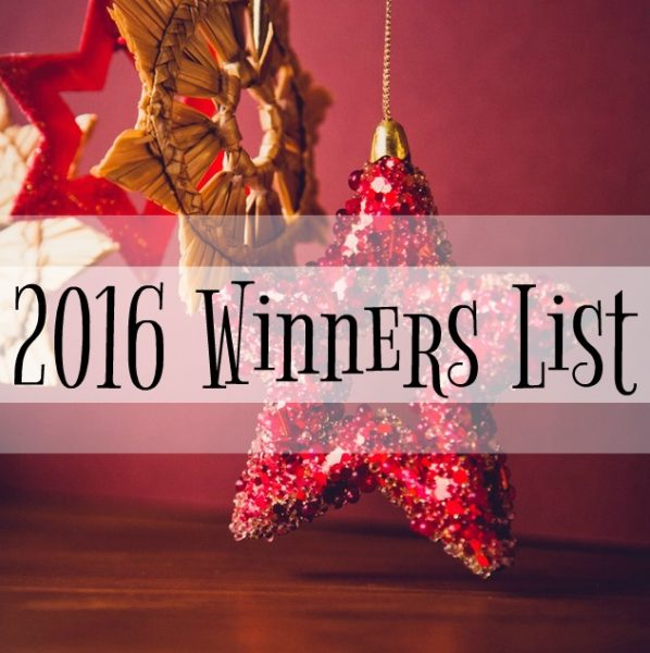 2016 Winners List