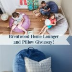 Brentwood Home Lounger and Pillow Giveaway