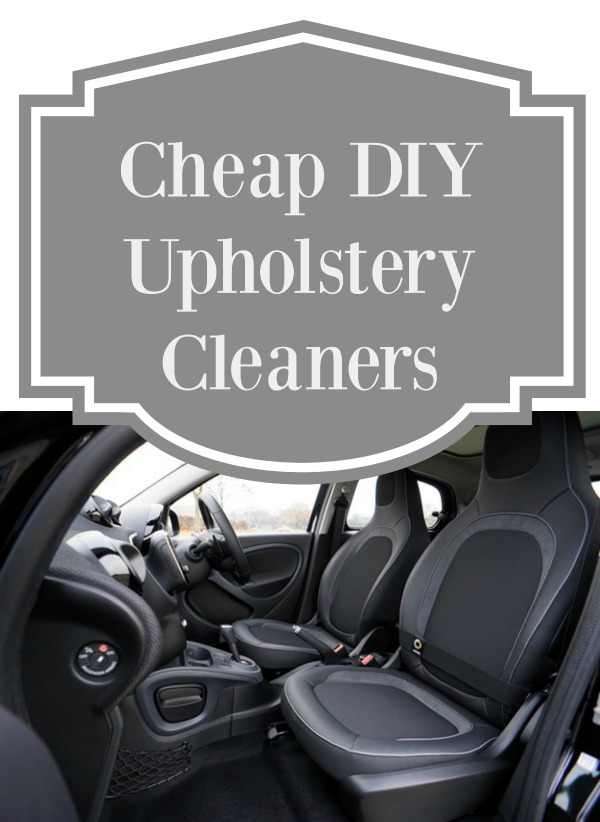 Cheap DIY Upholstery Cleaners