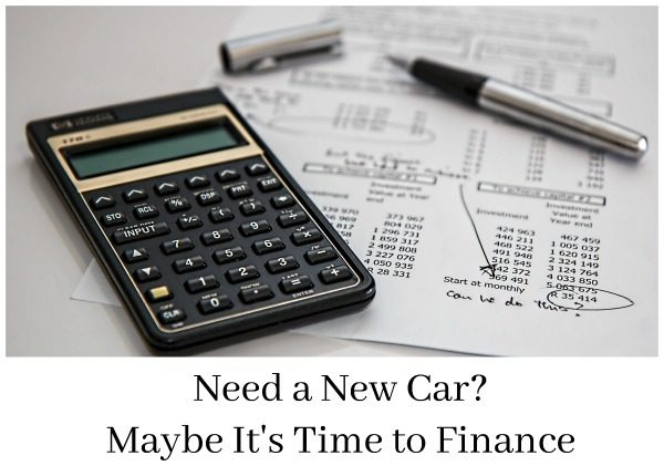 Need a New Car? Maybe It's Time to Finance