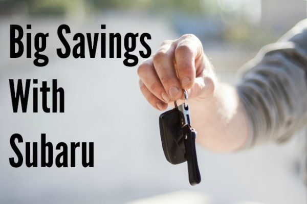 Big Savings With Subaru