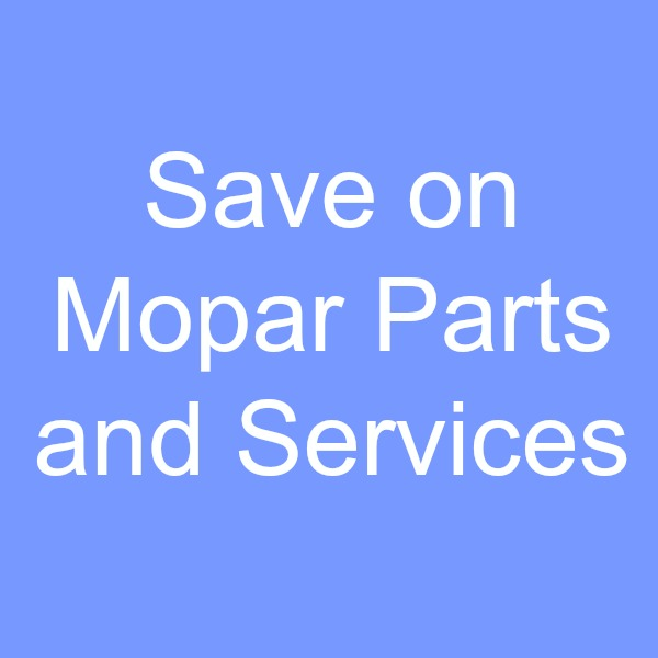 Save on Mopar Parts and Services