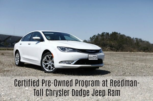 Certified Pre-Owned Program at Reedman-Toll Chrysler Dodge Jeep Ram